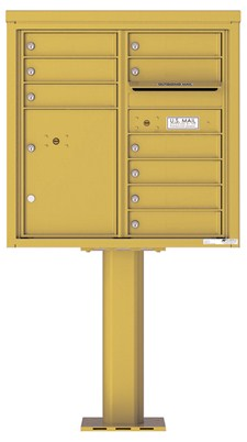 Pedestal Mounted 4C Mailboxes – 9 Tenant Mailboxes