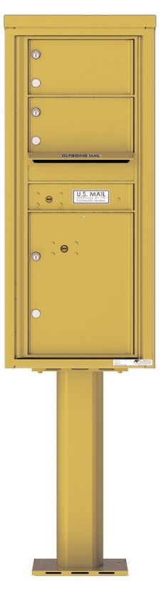 Pedestal Mounted 4C Mailboxes – 2 Tenant Mailboxes
