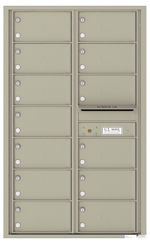 Versatile ™ 4C Mailbox – 14-Doors High – 13 Mailboxes (Private Use)