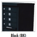 8 Door Apartment Pedestal Mailbox Black