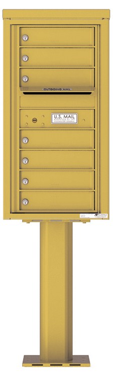 Pedestal Mounted 4C Mailboxes – 7 Tenant Mailboxes