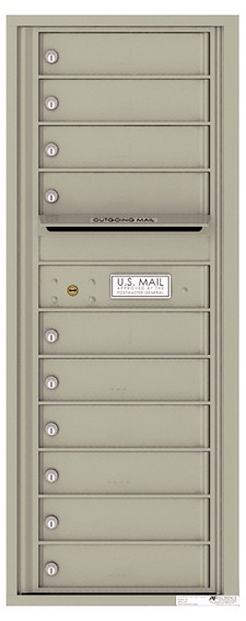 Versatile ™ 4C Mailbox – 12-Doors High – 10 Mailboxes Postal Grey (Private Use)