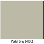 Postal Grey Single Stack 7 Tenant 4C Pedestal Mailbox w/ Parcel Door
