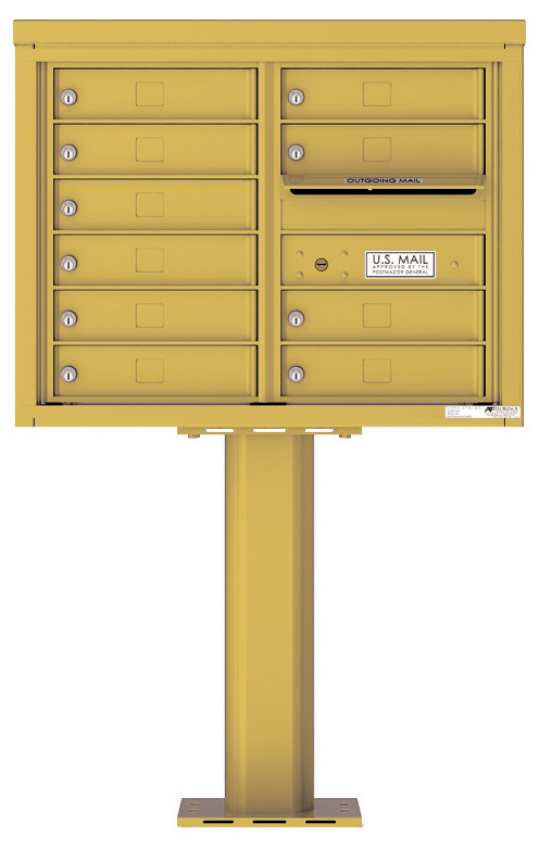 Pedestal Mounted 4C Mailboxes – 10 Tenant Mailboxes