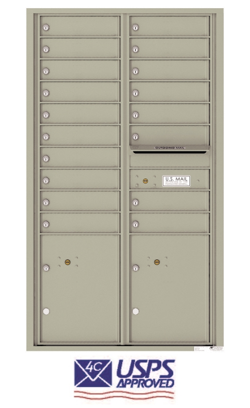 4C15D-18 18 Tenant Door Recess Mounted Commercial 4C Mailbox