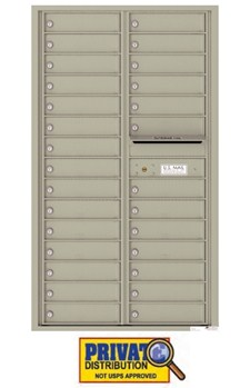Florence 4C15D-28 28 Door Private Delivery 4C Horizontal Commercial Mailbox